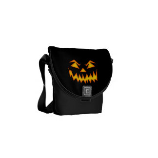 Scary Halloween Face Messenger Bags