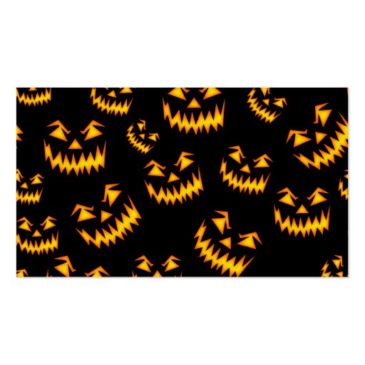 Scary Halloween Faces Business Card Templates