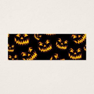 Scary Halloween Faces Mini Business Card