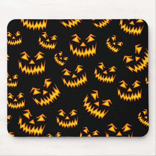 Scary Halloween Faces Mousepads