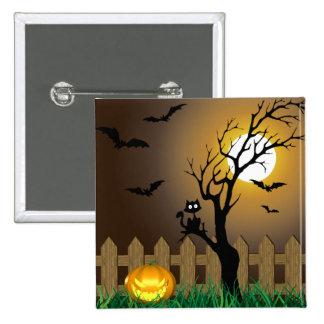 Scary Halloween Illustration - Button
