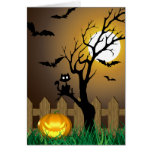 Scary Halloween Illustration - Greeting Card