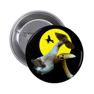 Scary Halloween Mushrooms Buttom Pinback Button