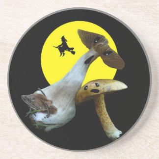 Scary Halloween Mushrooms Coasters