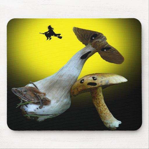 Scary Halloween Mushrooms Mousepad