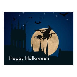 Scary Halloween Night Postcard