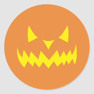 Scary Halloween Party Jackolantern Pumpkin Sticker