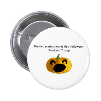 scary Halloween President Trump button