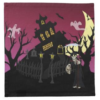 Scary Halloween Printed Napkins