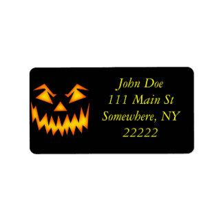 Scary Halloween Pumpkin Address Label