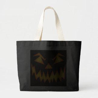 Scary Halloween Pumpkin Canvas Bag