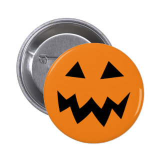 Scary Halloween pumpkin face carving buttons