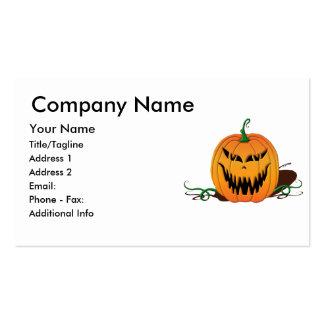 Scary Halloween Pumpkin Face Pack Of Standard Business Cards