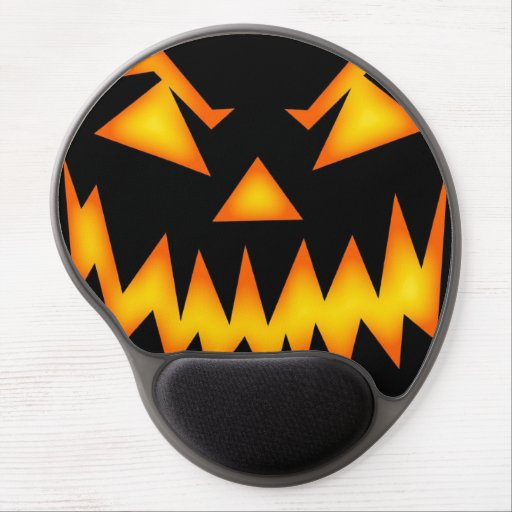 Scary Halloween Pumpkin Gel Mousepad