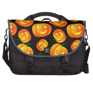 Scary Halloween Pumpkin Jack-O-Lantern Black Laptop Computer Bag