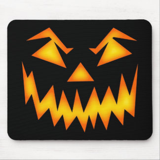 Scary Halloween Pumpkin Mouse Pads