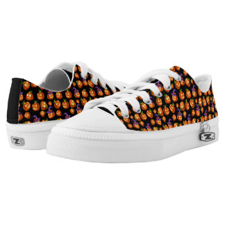 Scary Halloween Pumpkins Printed Shoes