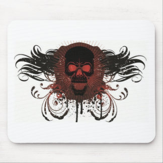 Scary halloween skull design mouse pad