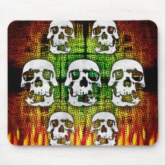 Scary Halloween Skulls Mouse Pad