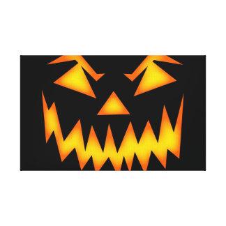 Scary Halloween Smile Canvas Print