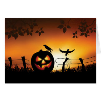 Scary Halloween Themed Background Card