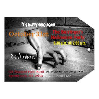 Scary Hand Halloween Invitation 2  VIP Pass