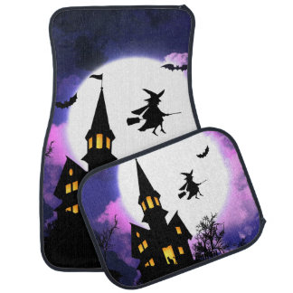 Scary Haunted House  Happy Halloween Car Mat