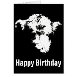 Scary Highland Calf Pop Art Birthday Card