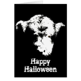 Scary Highland Calf Pop Art Halloween Card