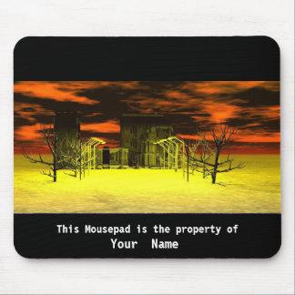 Scary House  Mousepad Mousepads