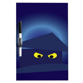 Scary House  Silver Moon Dry Erase Board