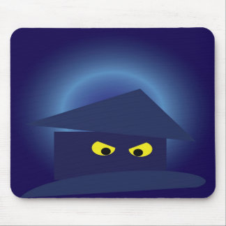 Scary House  Silver Moon Mouse Pad