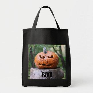 Scary jack-o-lantern bag