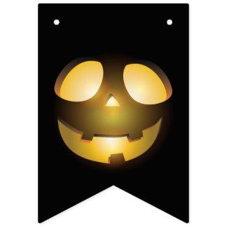 Scary Jack o' Lantern. Bunting
