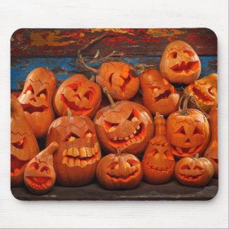 Scary Jack O Lantern Halloween Pumpkins 2 Mouse Pad