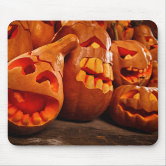 Scary Jack O Lantern Halloween Pumpkins Mouse Pad