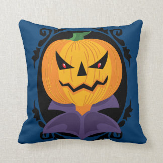 Scary Jack O Lantern Head Cushion