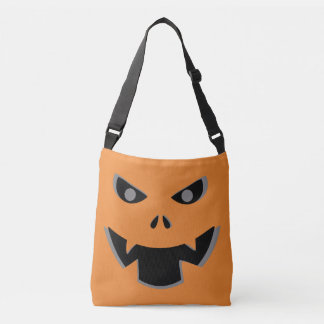Scary Jack O Lantern Pumpkin Face Halloween Crossbody Bag
