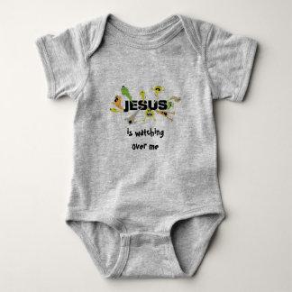 Scary Jesus Baby Bodysuit