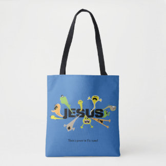 Scary Jesus Tote Bag