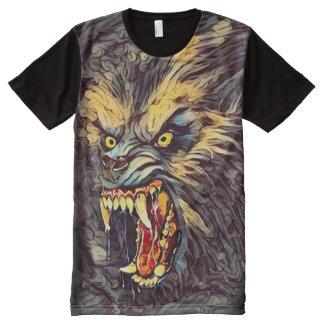Scary Killer Werewolf Dark Horror Fantasy Art All-Over Print T-Shirt