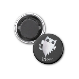 Scary Kitty Cat Ghost Magnet