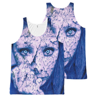 Scary Lady All-Over Print Tank Top