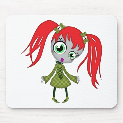 Scary Little Creepy Girl Mousepads