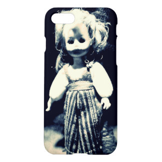 scary little girl doll iphone case