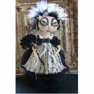 Scary Mary Doll Photo Sculpture Pin