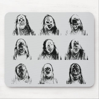 Scary Masks Mouse Pad