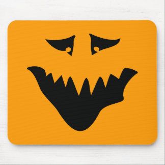 Scary Monster Face Black Mousepad