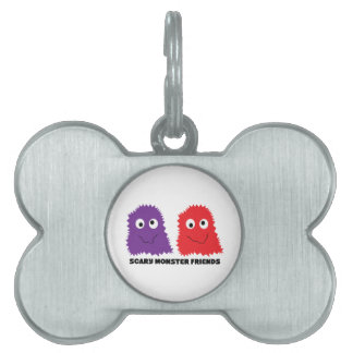 Scary Monster Friends Pet ID Tags