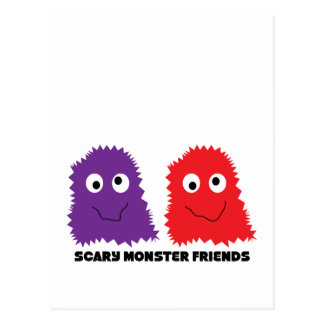 Scary Monster Friends Postcard